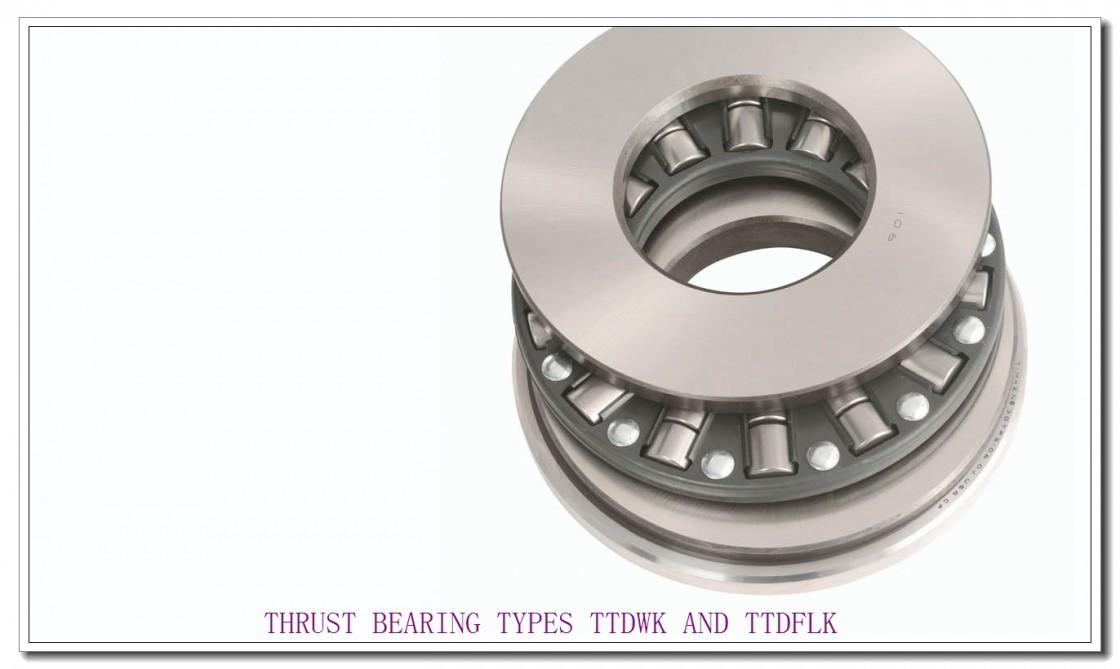 T6110F THRUST BEARING TYPES TTDWK AND TTDFLK