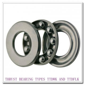 T9130e THRUST BEARING TYPES TTDWK AND TTDFLK