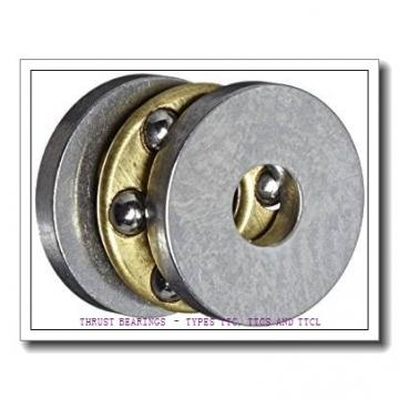 T1260 THRUST BEARINGS – TYPES TTC, TTCS AND TTCL