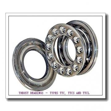 T163X THRUST BEARINGS – TYPES TTC, TTCS AND TTCL
